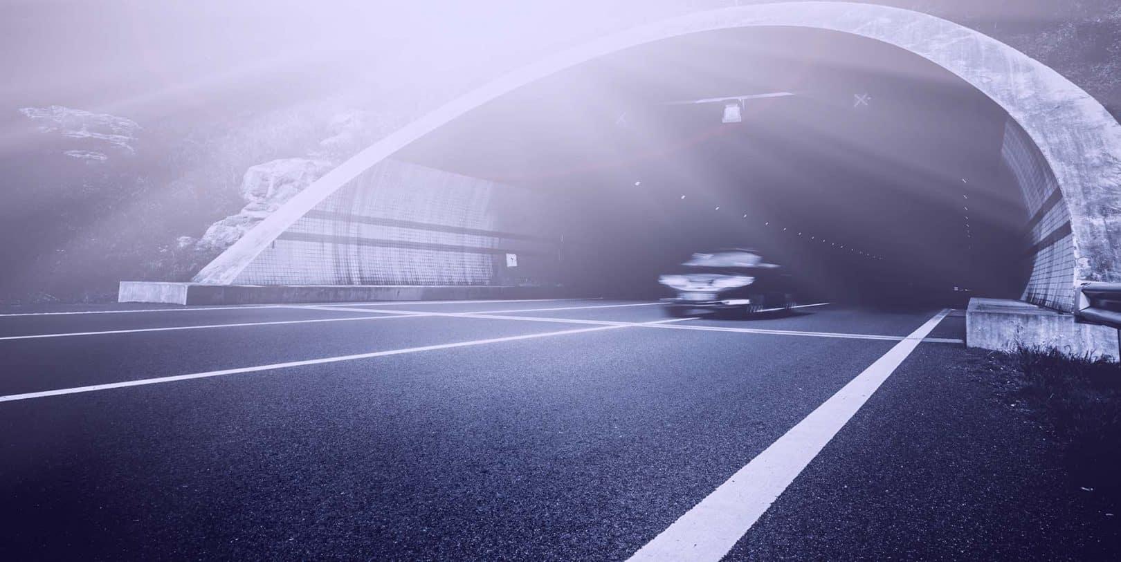 componenti woertz per l'impianto di illuminazione nelle gallerie autostradali e ferroviarie
